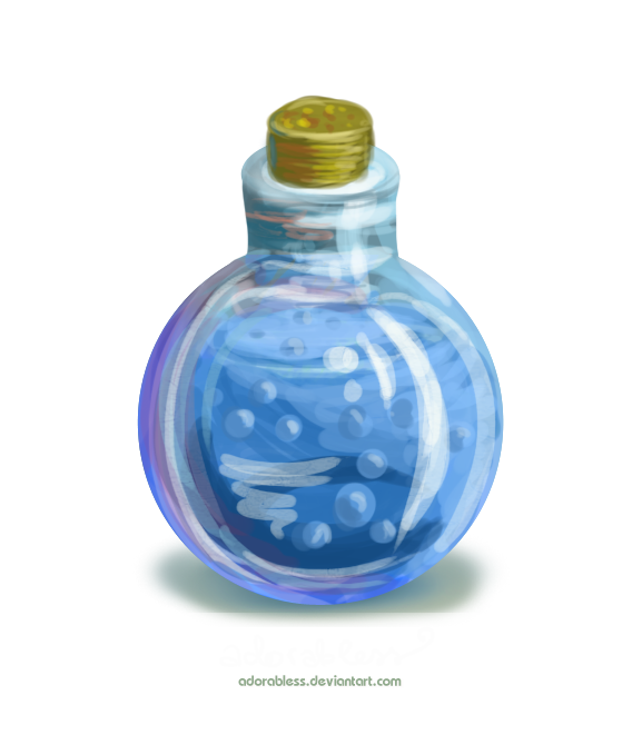 Blue potion png. Level mana available open