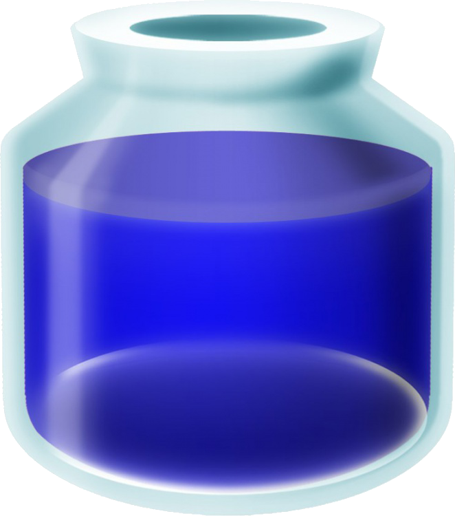 Blue potion png. Image a link between