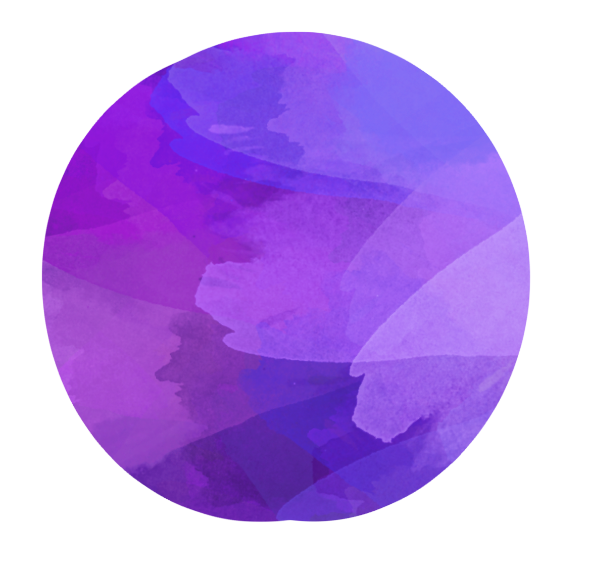 Blue purple circle. Watercolor blueviolet clipart