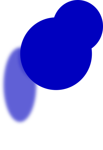 pushpin vector blue