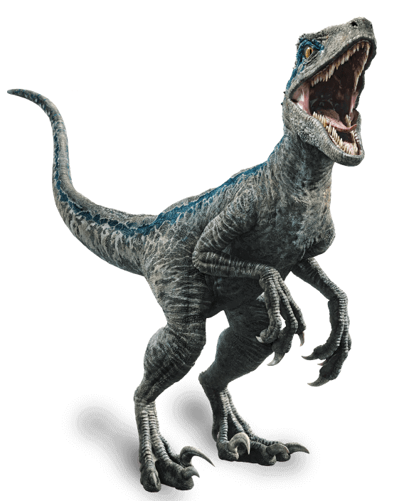 velociraptor transparent toy