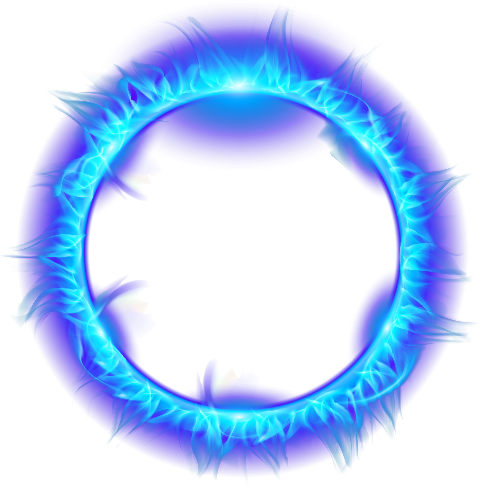 Light ring png. Flame fire download blue