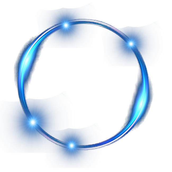 Light ring png. Blue effect transprent free