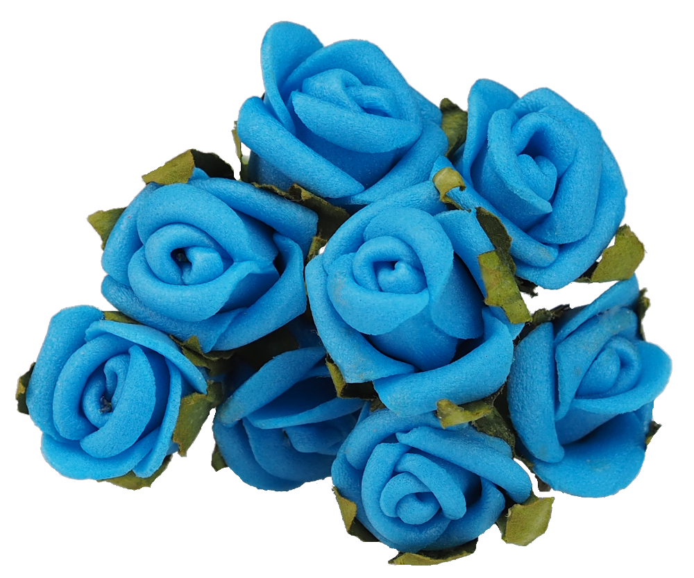 Blue roses png. Rose flower hairpins