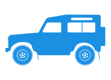 Blue rover. Jeep clipart for