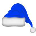 Blue santa hat png. Image related wallpapers