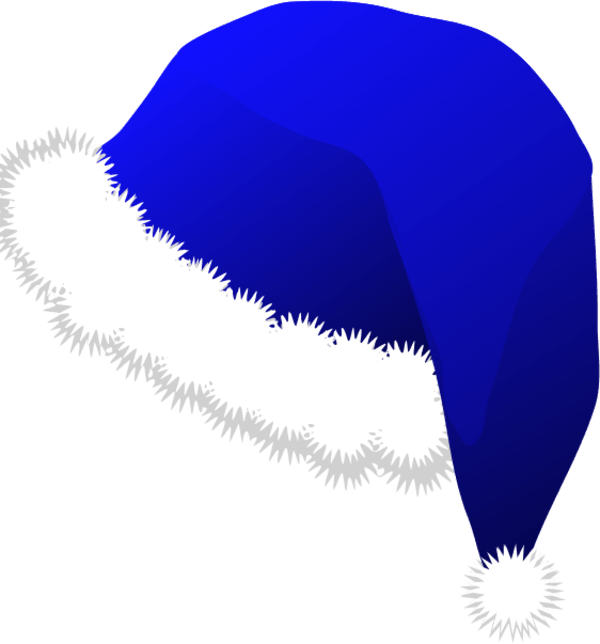 Blue santa hat png. Clipart images gallery for