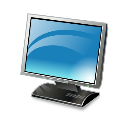 Blue screen monitor png. Real vista by iconshock