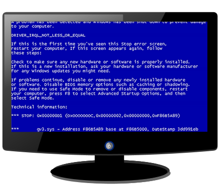 blue screen of death png
