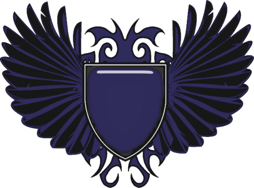 Shield with wings png. Blue psd official psds