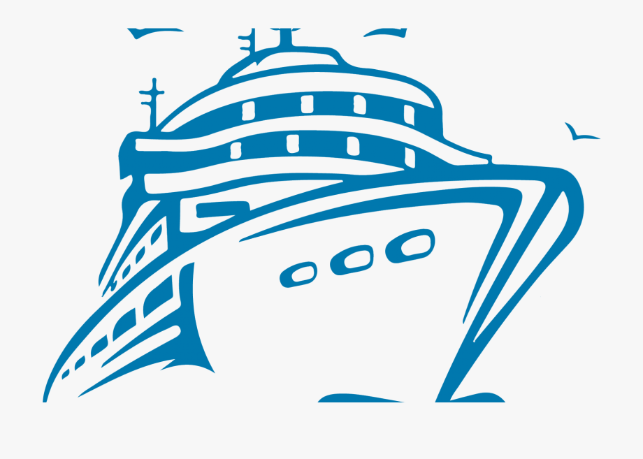 Blue ship. Download for free png