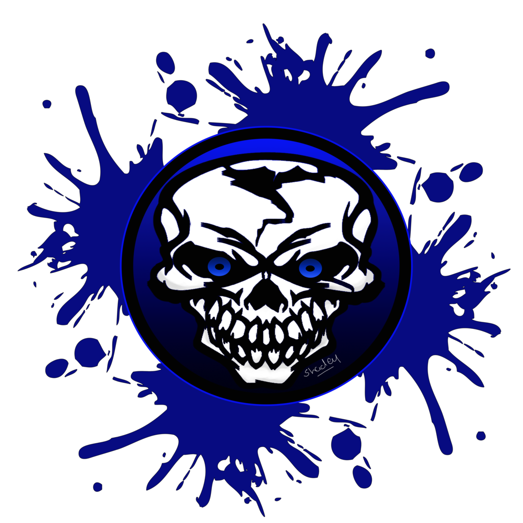 Blue skull png. Logo by asm on
