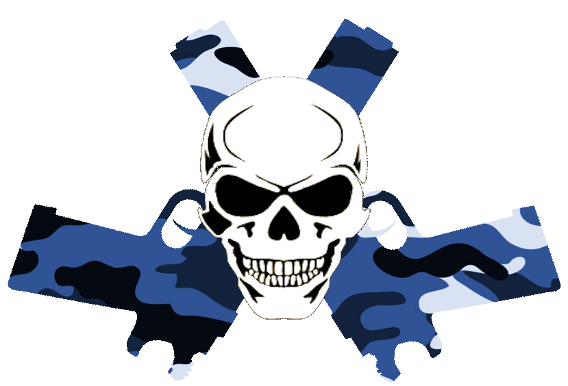 Blue skull png. In guns camo free