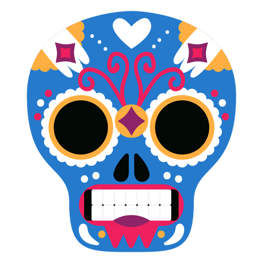 Blue skull png. Mexican mask transparent svg