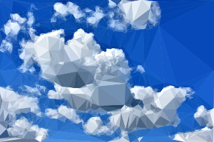 Blue sky png. Clipart low poly small