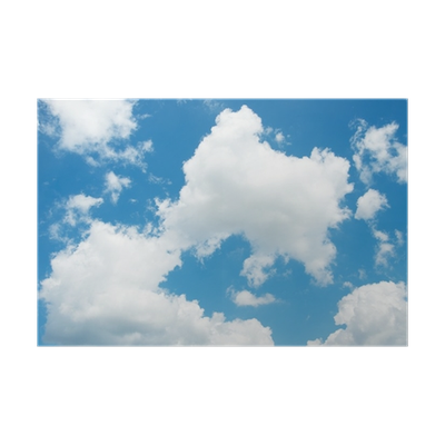 Blue sky with clouds png. Background white poster pixers