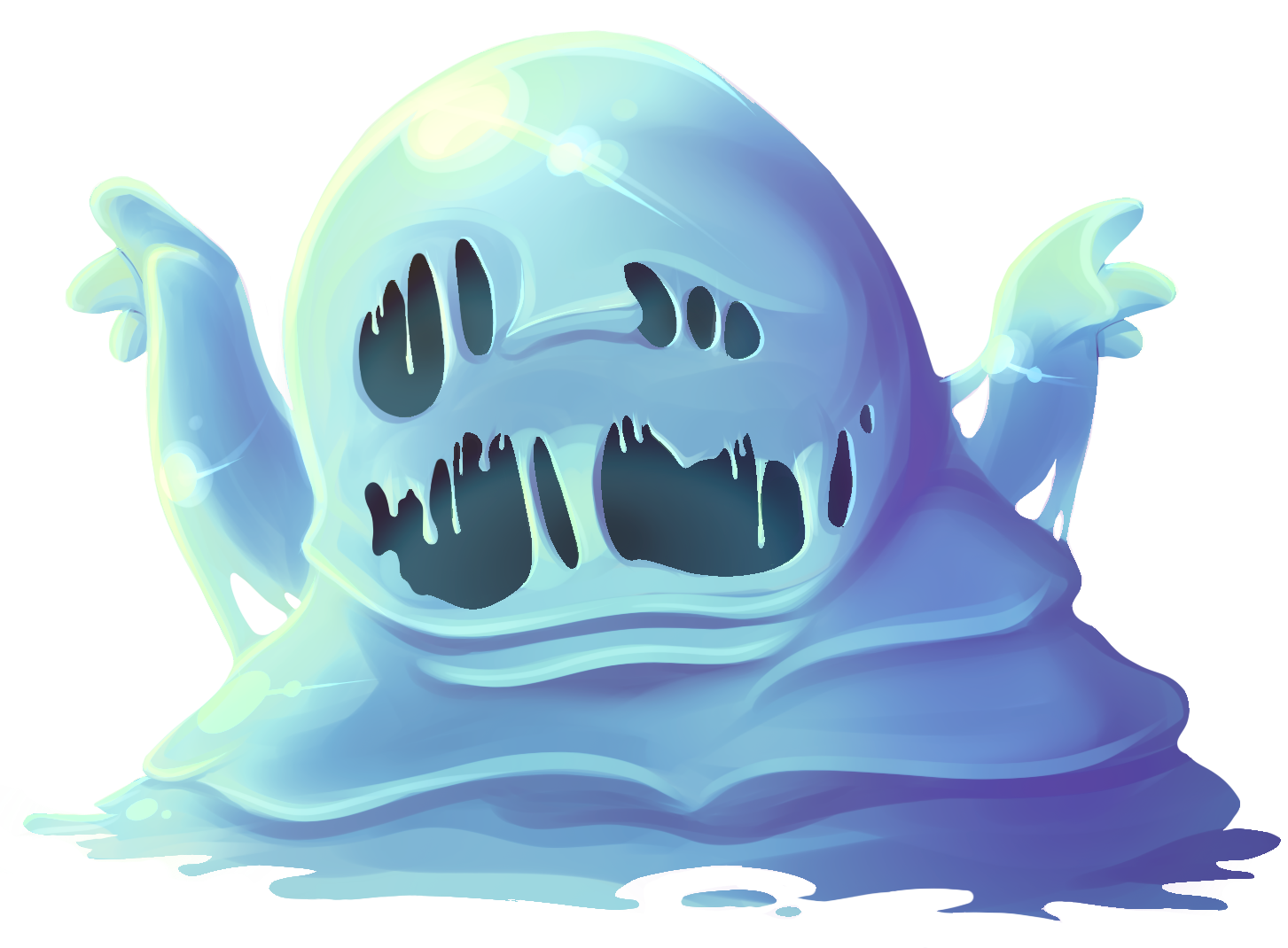 Slime png. Opengameart org slimebluepng