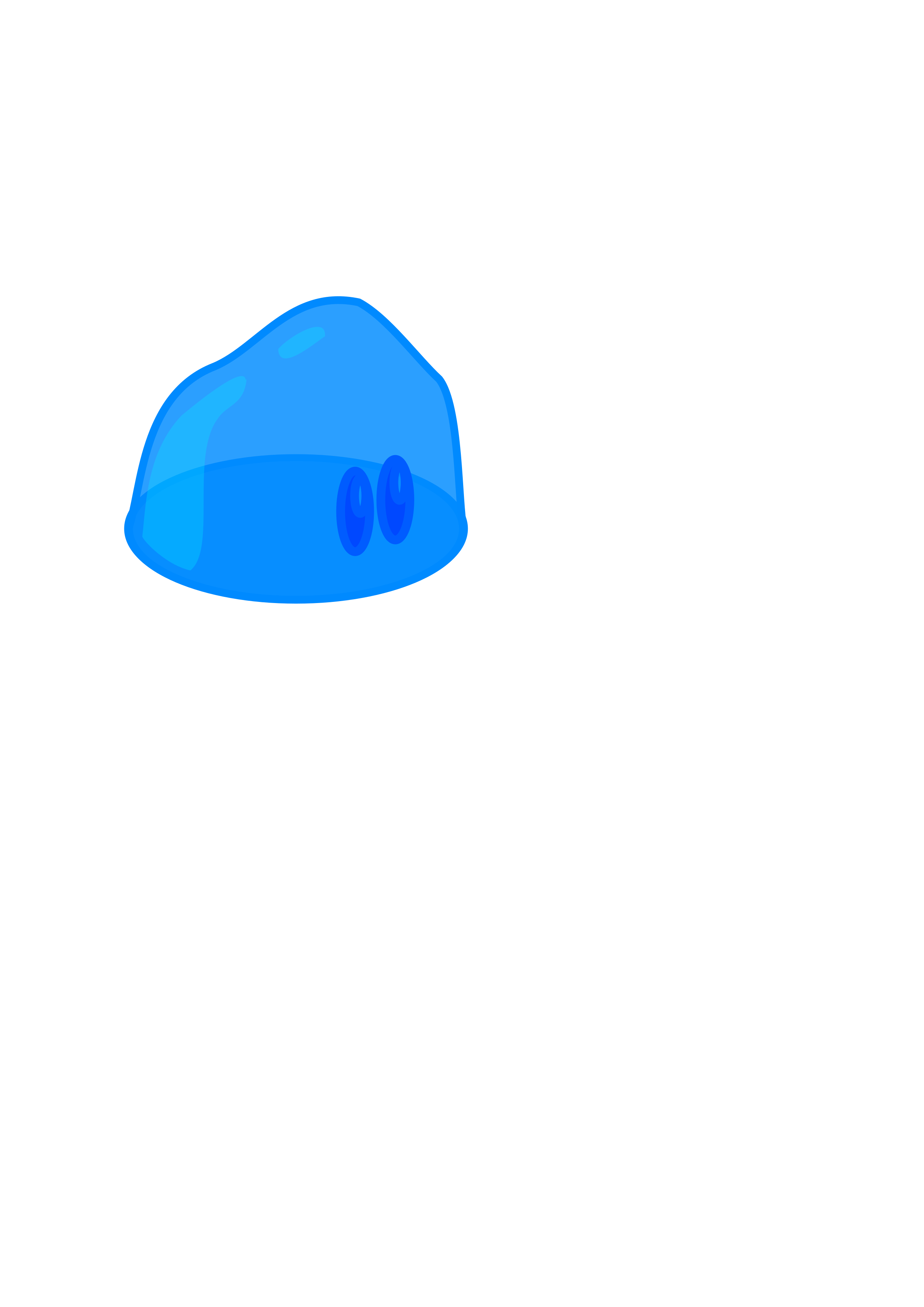 Blue clip. Slime icons png free