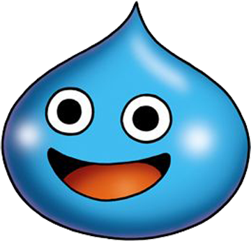 Blue slime png. Image dragon quest all
