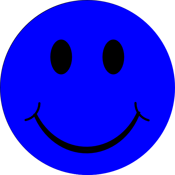 Blue smiley face png. Clip art at clker