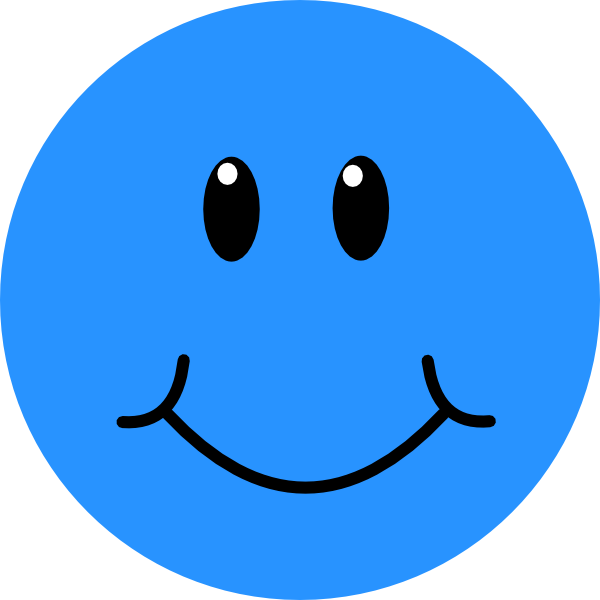 Blue smiley face png. Clipart panda free images