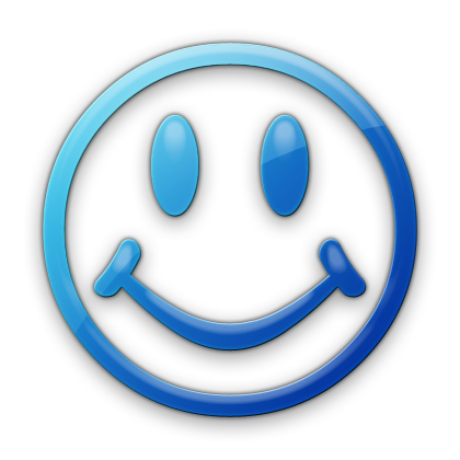 Blue smiley face png. Big happy icon drawing