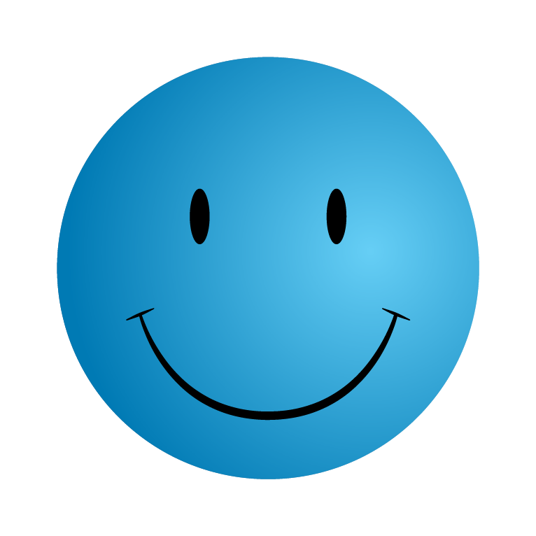 Blue smiley face png. Free icons and backgrounds