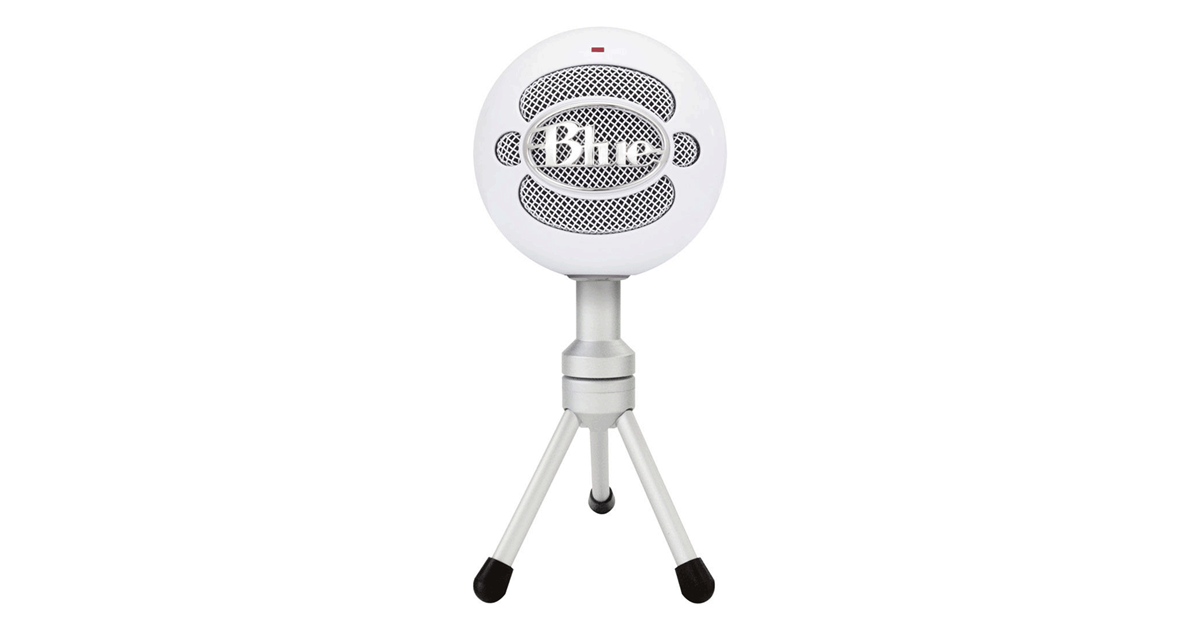 Snowball microphone png. Blue snow ball ice