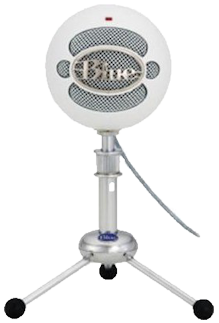 Snowball microphone png. Electronic blue microphones ice