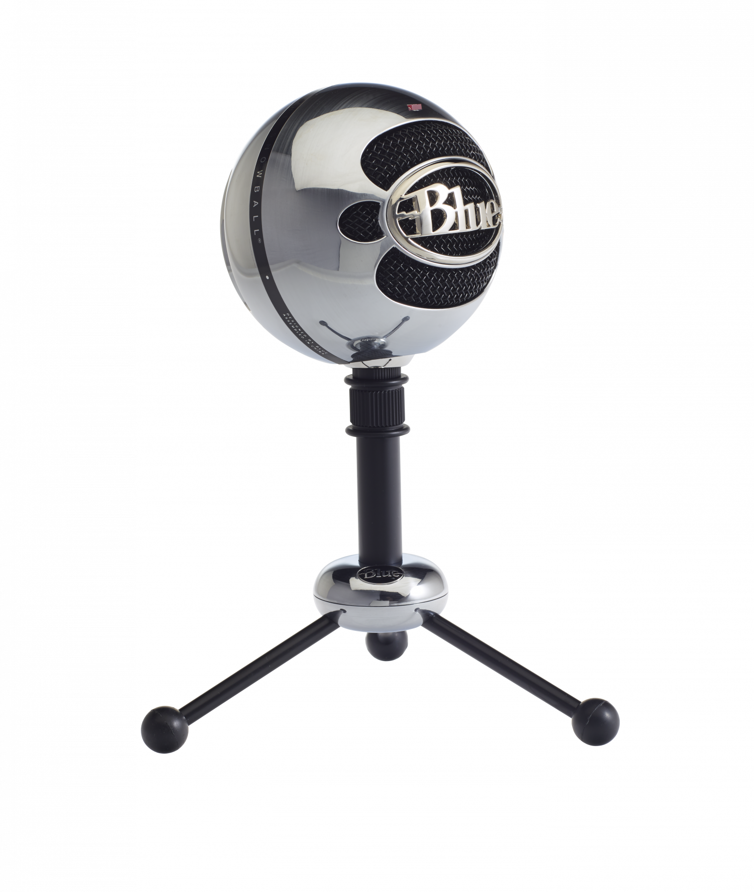 Snowball microphone png. Blue brushed aluminium nordic