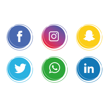 Blue social media icons png. Vectors psd and clipart
