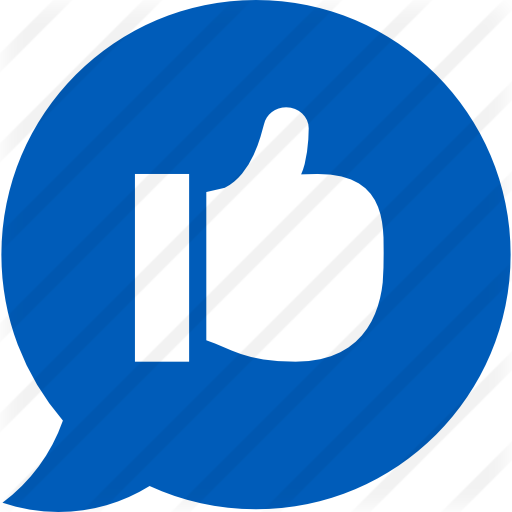Blue social media icons png. Speech bubble free