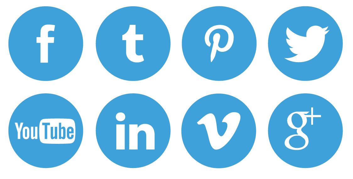Blue social media icons png. Free icon download iconsetblackwhitesocialmedia