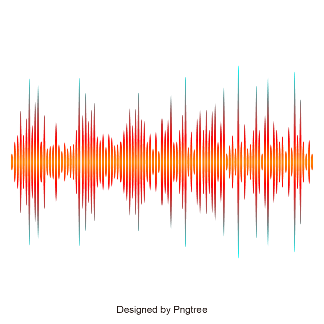 Soundwave graphic png. Orange music sound wave