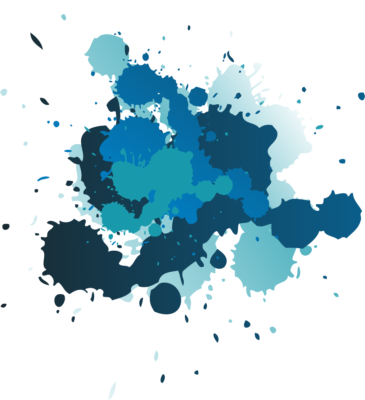 Blue splatter png. Images the art in