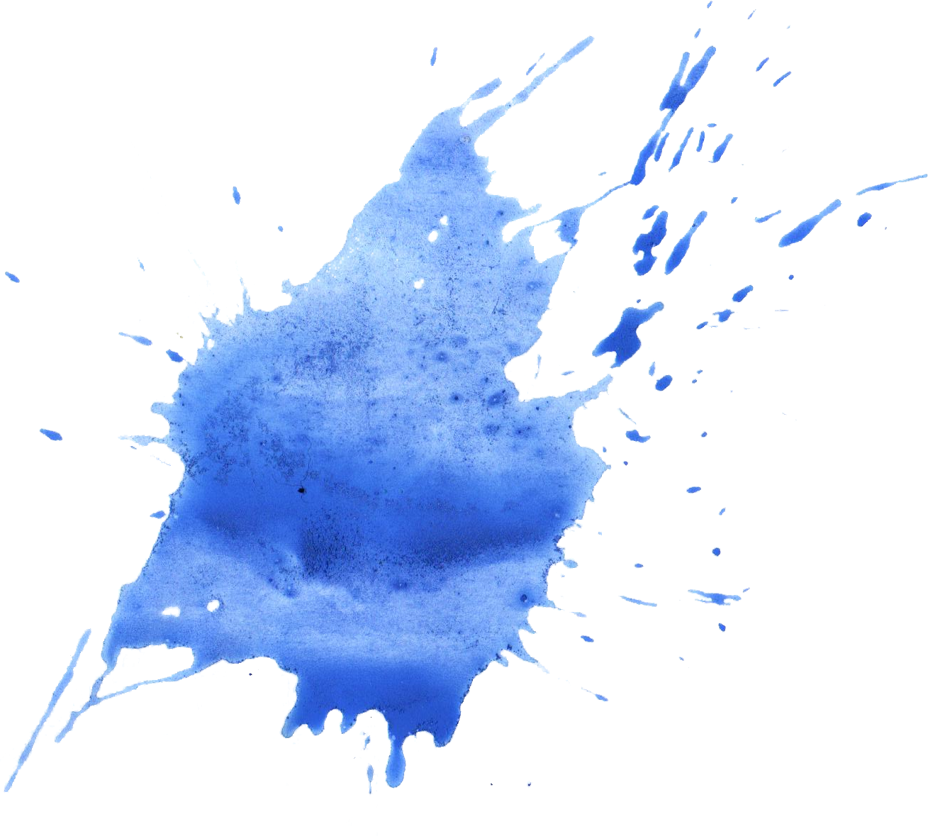 Water splat png. Blue watercolor splatter