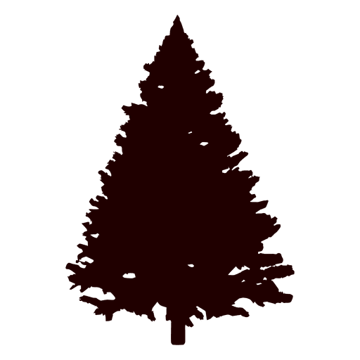 christmas tree silhouette png