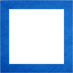 Blue square outline png. Cardboard icon free shape