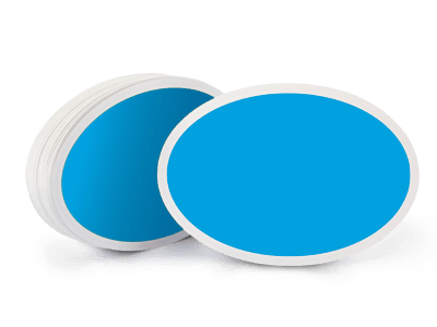 Blue sticker png. Oval stickers makestickers