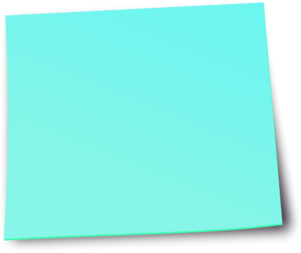 Colorful post it notes png. Blue sticky image