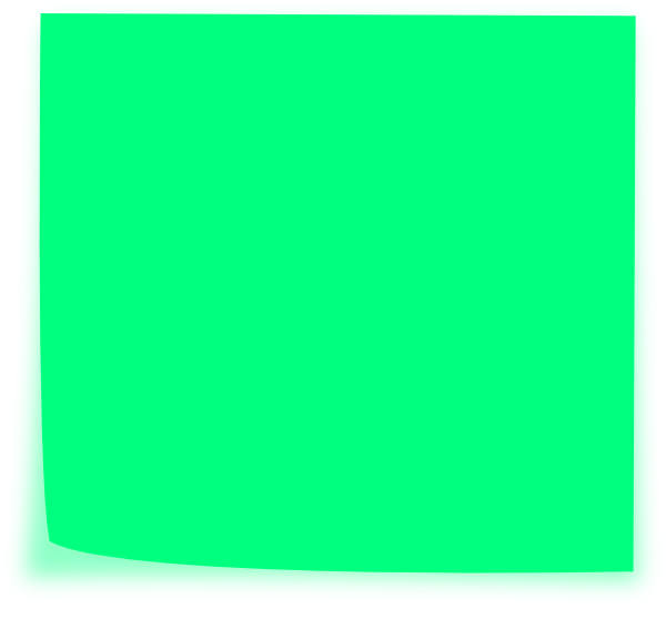 Blue sticky note png. Green clip art at