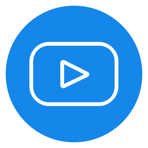 Blue subscribe png. Logo channel player play