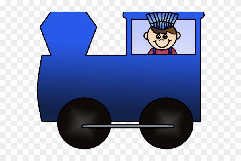Blue train. Engine clipart front hd