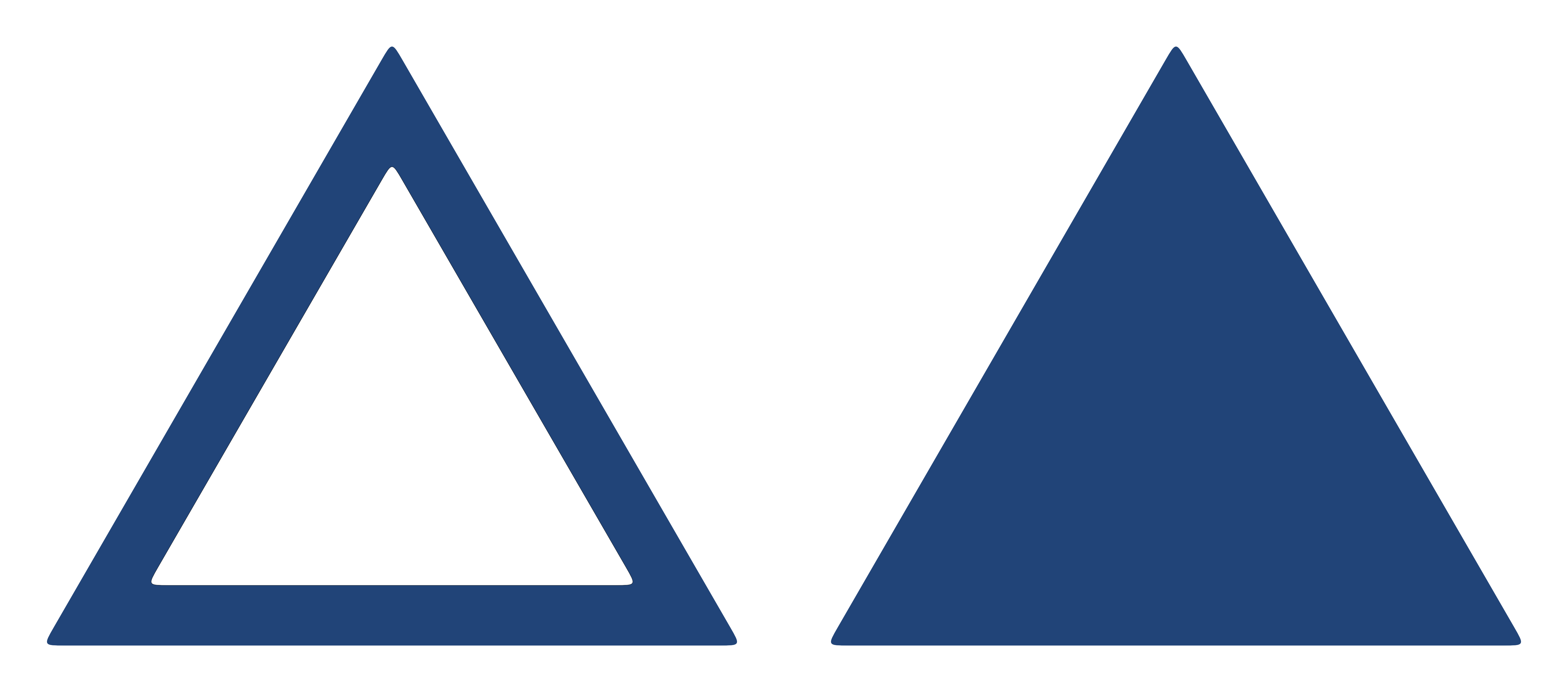 Blue triangle png. Sign model stock by