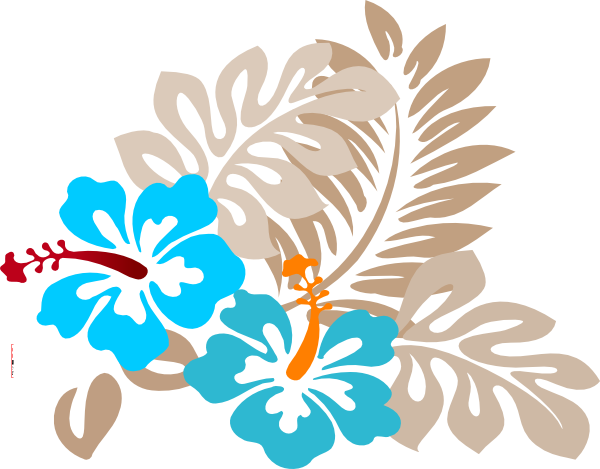 Blue tropical flowers png. Flower clip art at