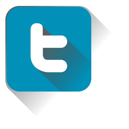 Blue twitter logo png. Squared icon transparent svg