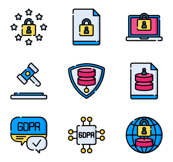 Database vector. Shield icons free