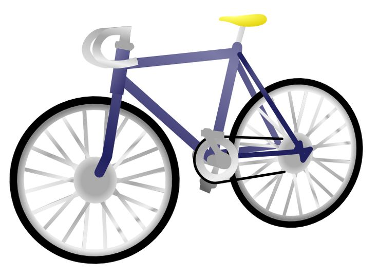 Blue velocipede. Pedagogy of on clipart