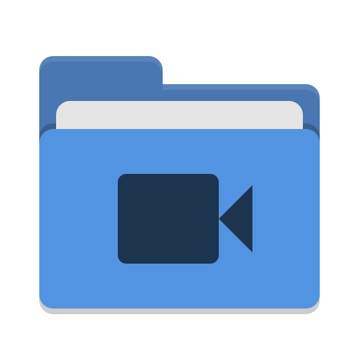 blue video icon png