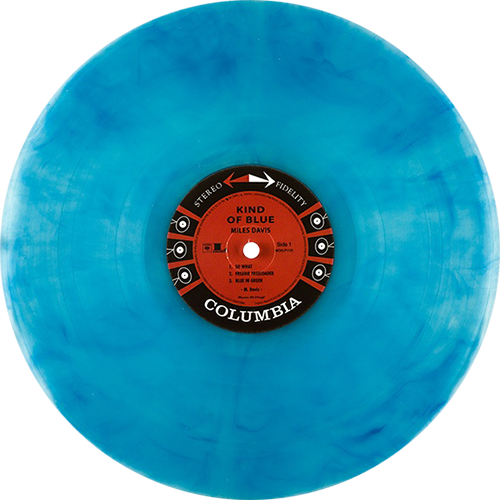 Colored vinyl record png. Miles davis kind of